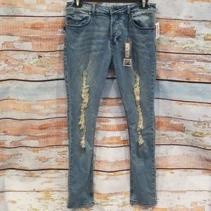 ✋😍HOST PICK!NWT Social Collision Skinny Jeans 38!